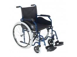 """Breezy 90 silla de ruedas 24"""" maciza ancho 45cm azul"""