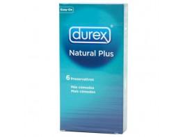 PRESERVA.DUREX NATURAL PLUS EASY ON 6UND